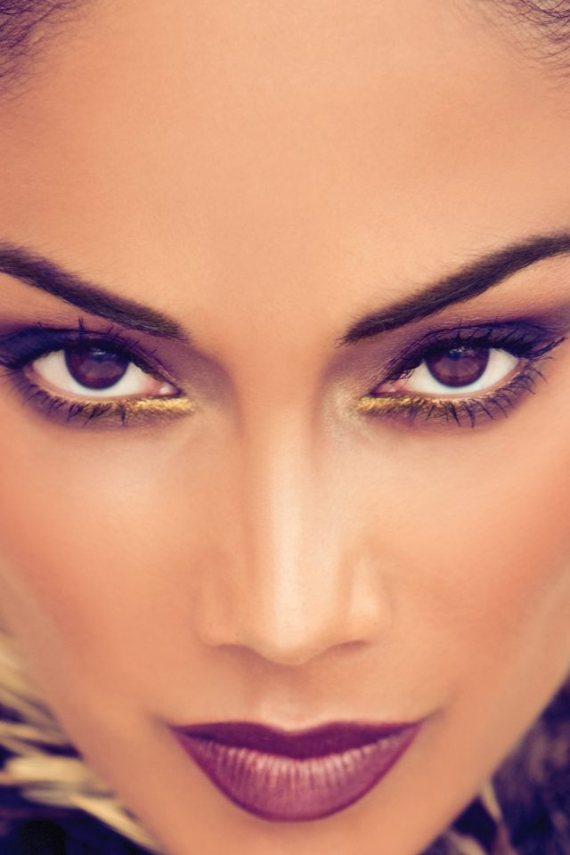 Nicole Scherzinger Artist Face Android wallpaper
