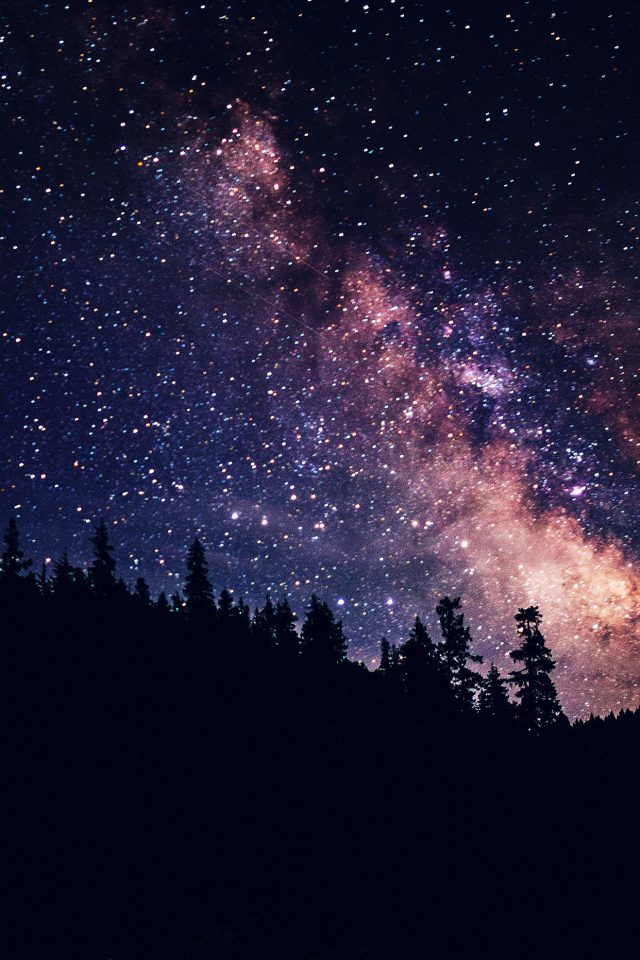 Night Sky Dark Space Milkyway Star Nature Android wallpaper