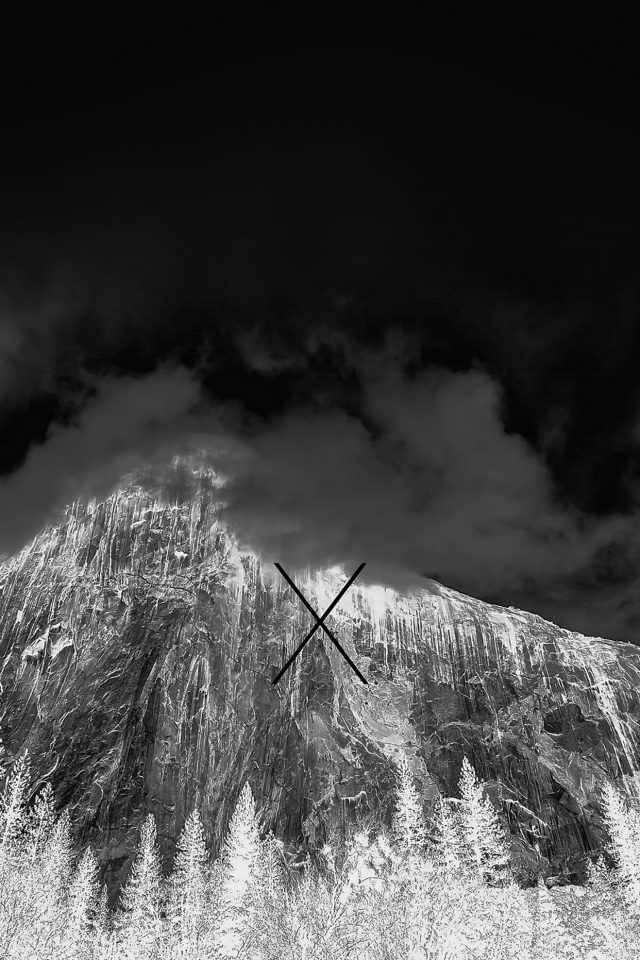 Os X Yosemite Mac Apple Dark Night Android wallpaper