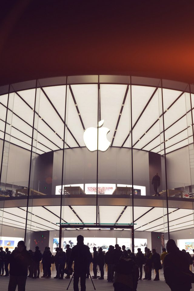 Photo Apple Store Event City Architecture Flare Android wallpaper