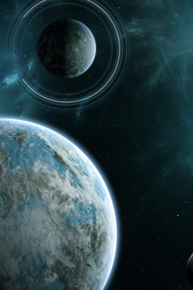 Planet Space Star Odyssey Art Android wallpaper