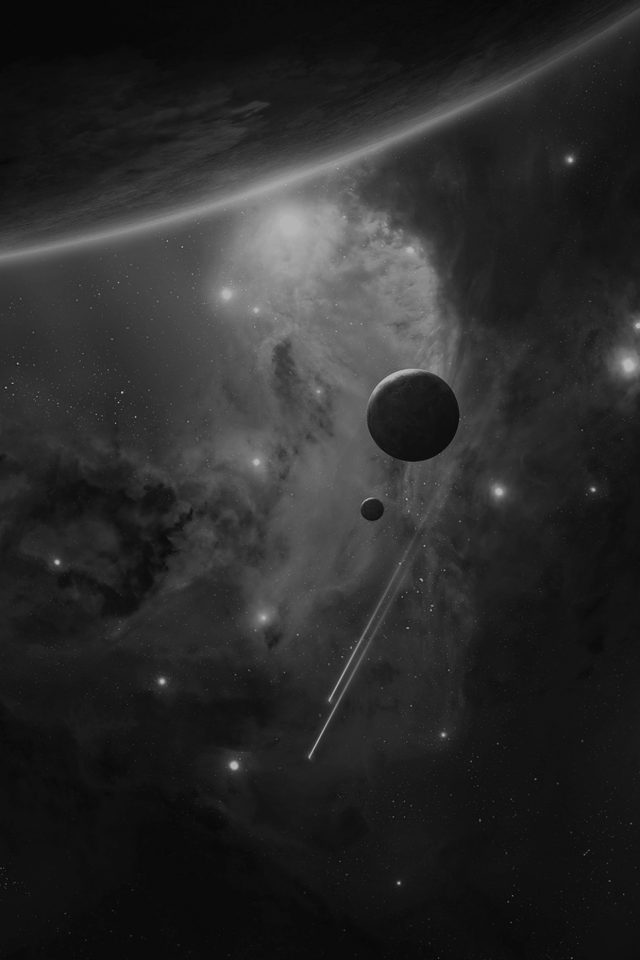Planets Space Abstract Dark Art Android wallpaper