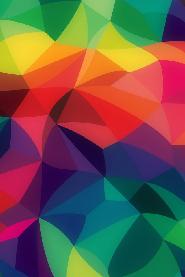 Rainbow Abstract Colors Pastel Dark Pattern Android wallpaper