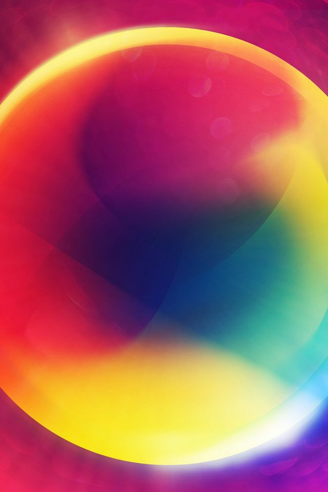 Rainbow Circle Color Digital Abstract Art Pattern Android wallpaper