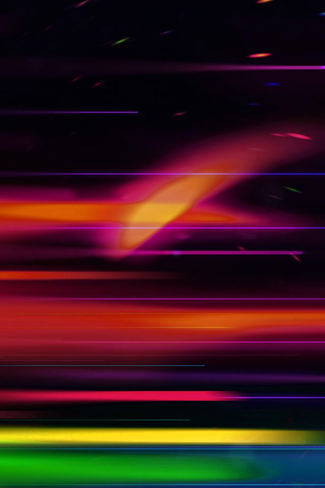 Rainbow Line Art Abstract Color Pattern Android wallpaper
