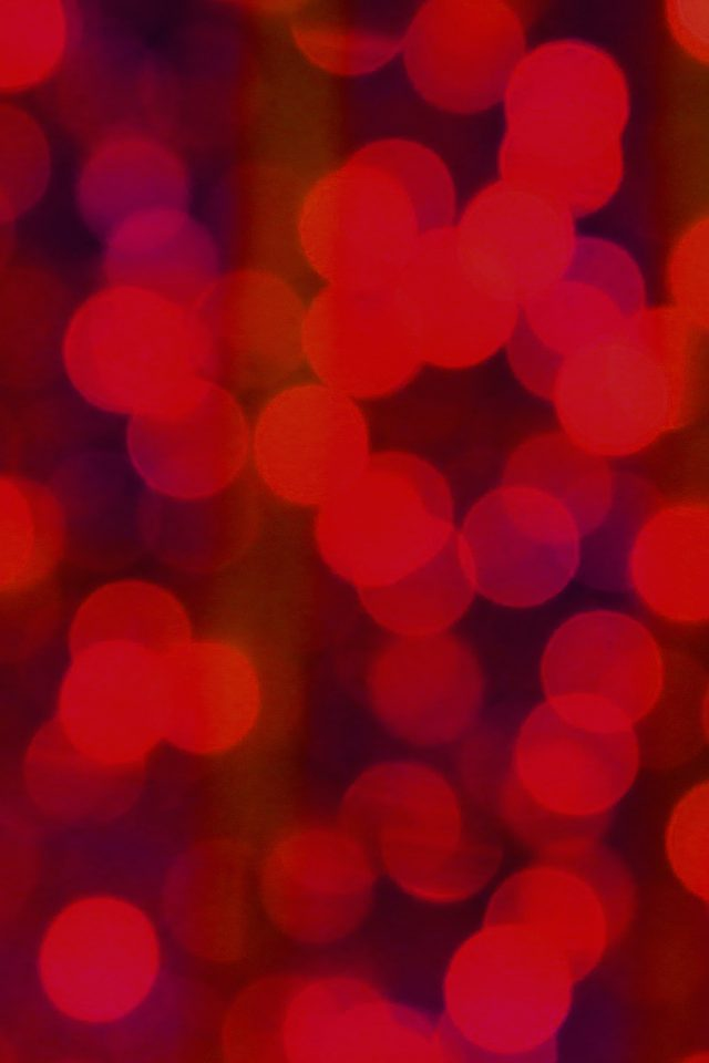 Red Bokeh Circle Abstract Pattern Android wallpaper