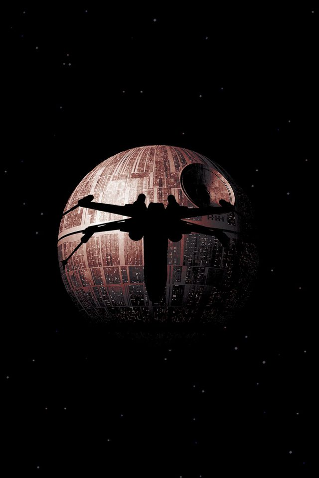 Rogue One Dark Space Starwars Poster Illustration Art Android wallpaper