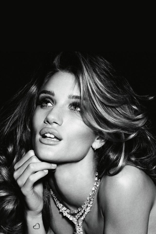 Rosie Huntington Whiteley Dark Bw Sexy Model Victoria Android wallpaper