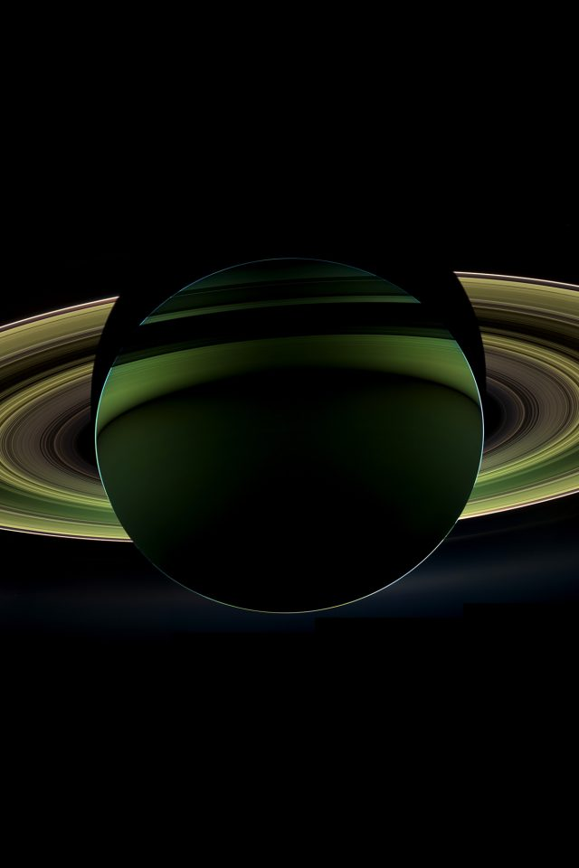 Saturn Far Space Nature Dark Android wallpaper