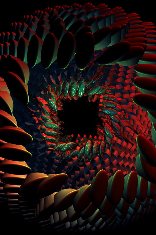 Seeds Dark Red Abstract Art Pattern Android wallpaper