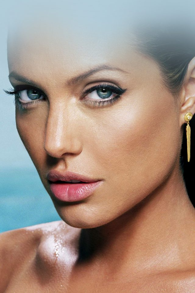 Sexy Angelina Jolie Starring Bikini Android wallpaper