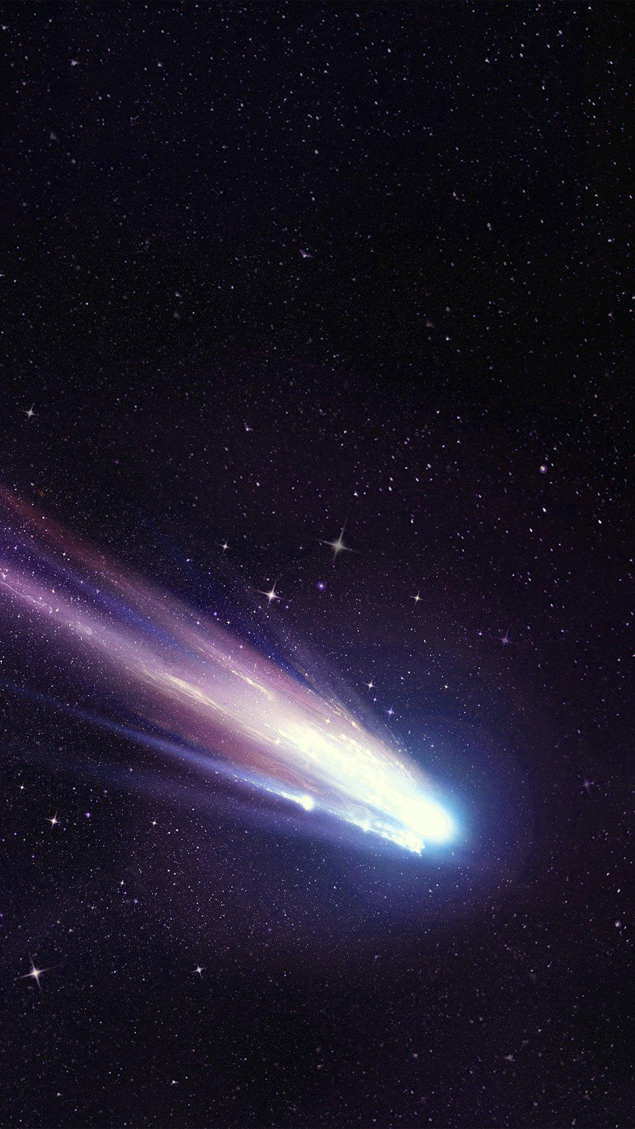 shootingstar space dark star purple blue art illustration android