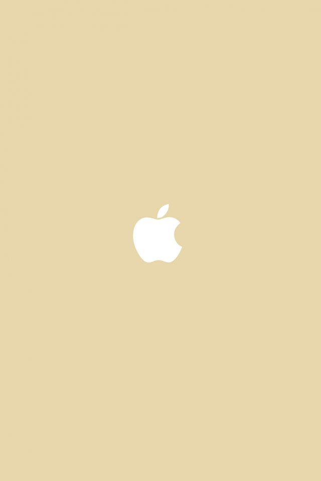 Simple Apple Logo Gold Minimal Android wallpaper