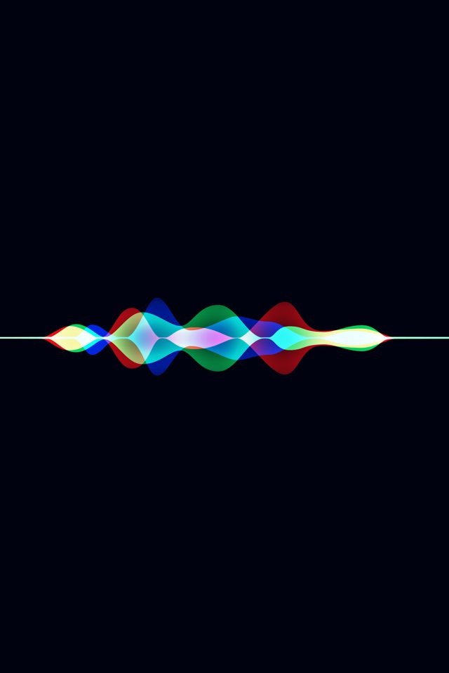 Siri Dark Rainbow Black Art Apple Pattern Android wallpaper