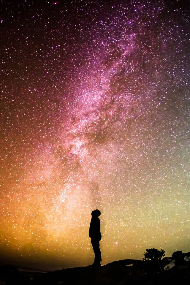 Sky Galaxy Milkyway Space Night Android wallpaper