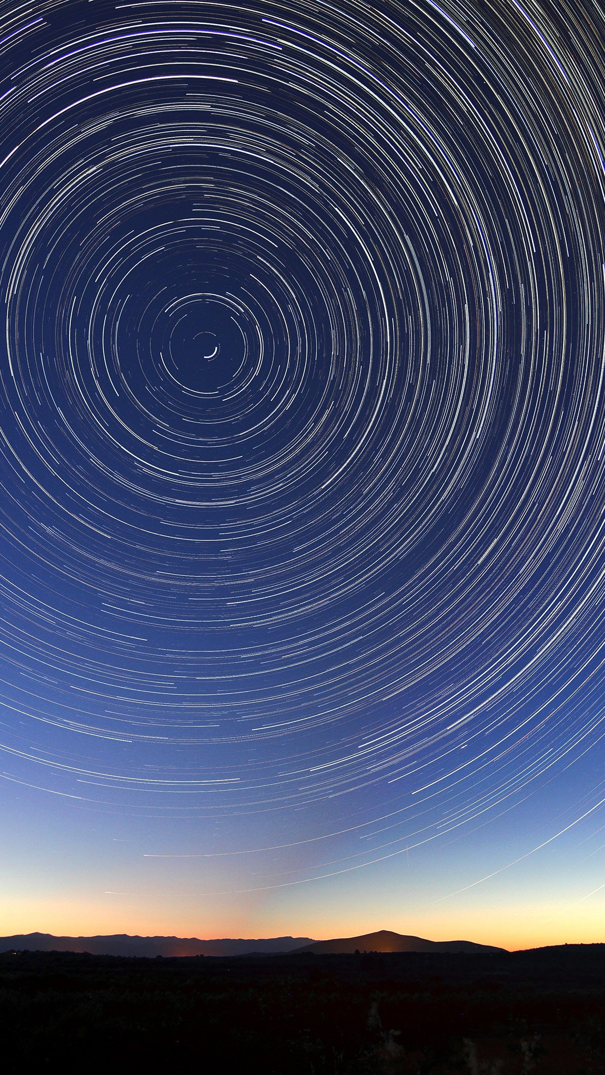 Sky Star Circle Space Night Sunset Android wallpaper