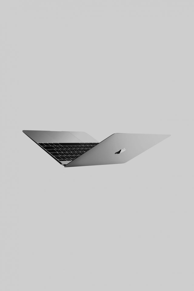 Sliver Apple Macbook Dark Art Android wallpaper