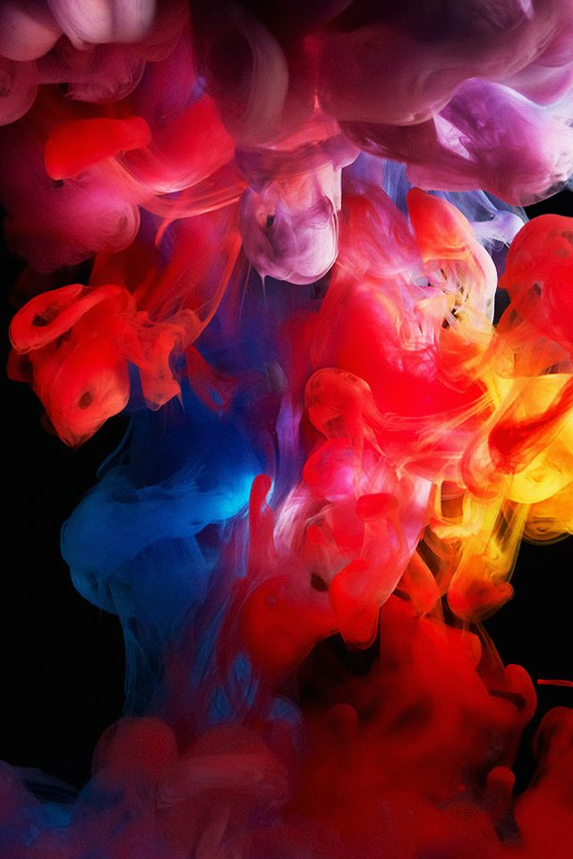 Smoke Color Dark Abstract Fog Art Illust Android wallpaper