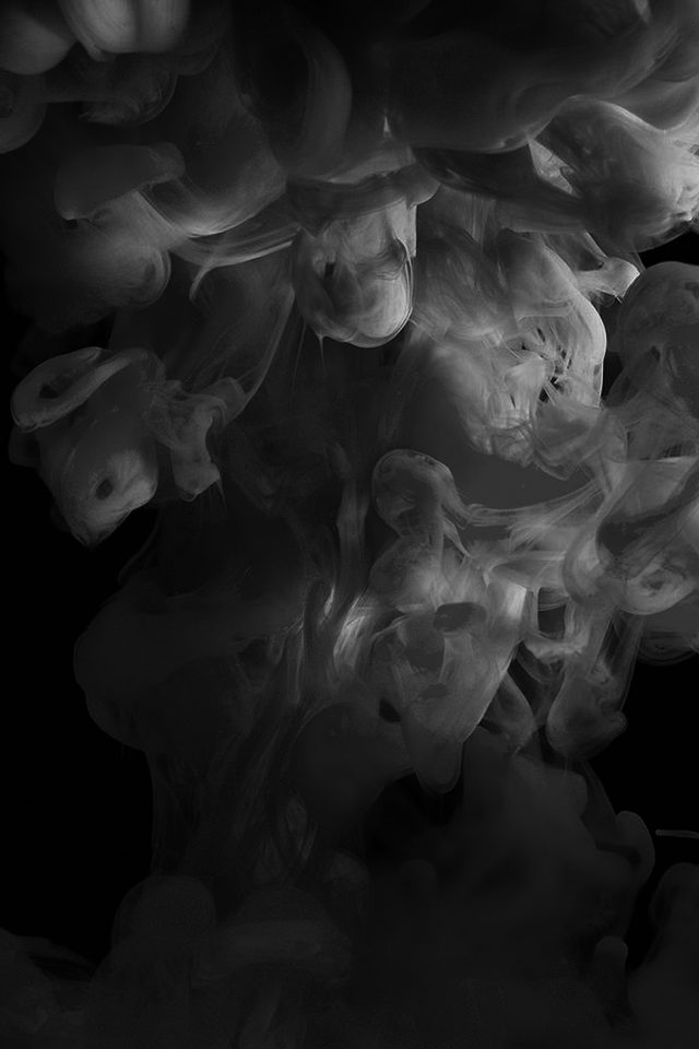 Smoke Dark Bw Abstract Fog Art Illust Android wallpaper