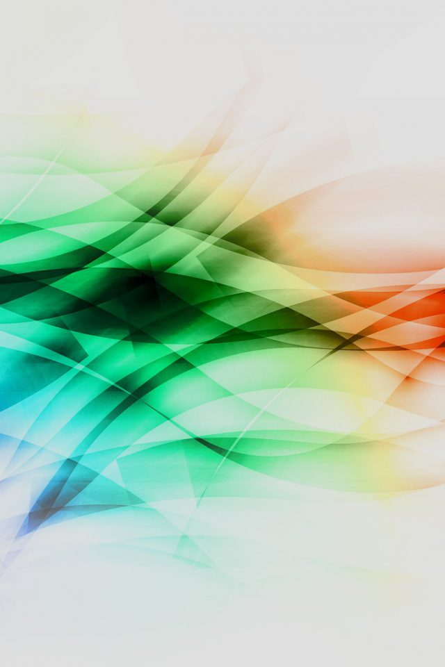 Smoke Rainbow Abstract Lines Pattern White Android wallpaper