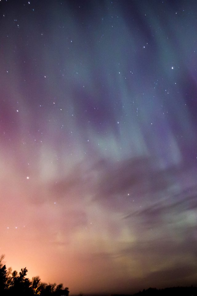 Space Aurora Night Sky Android wallpaper