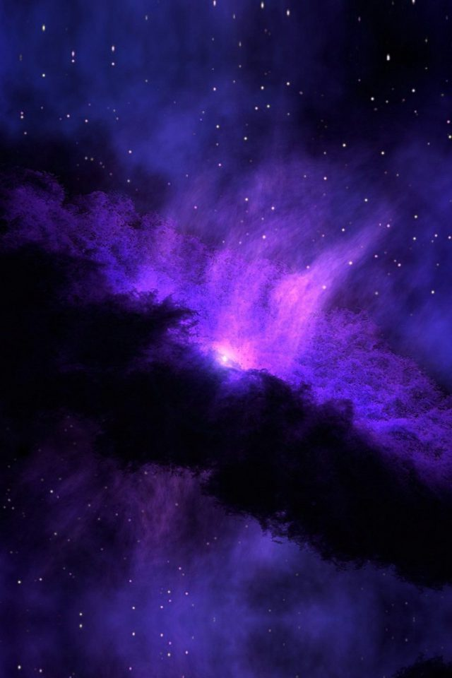 Space Blue Nebula Star Awesome Android wallpaper