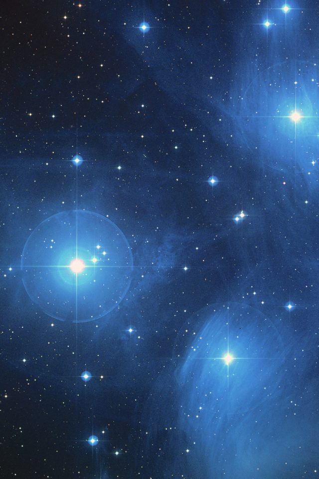 Space Dark Star Blue Pattern Android wallpaper