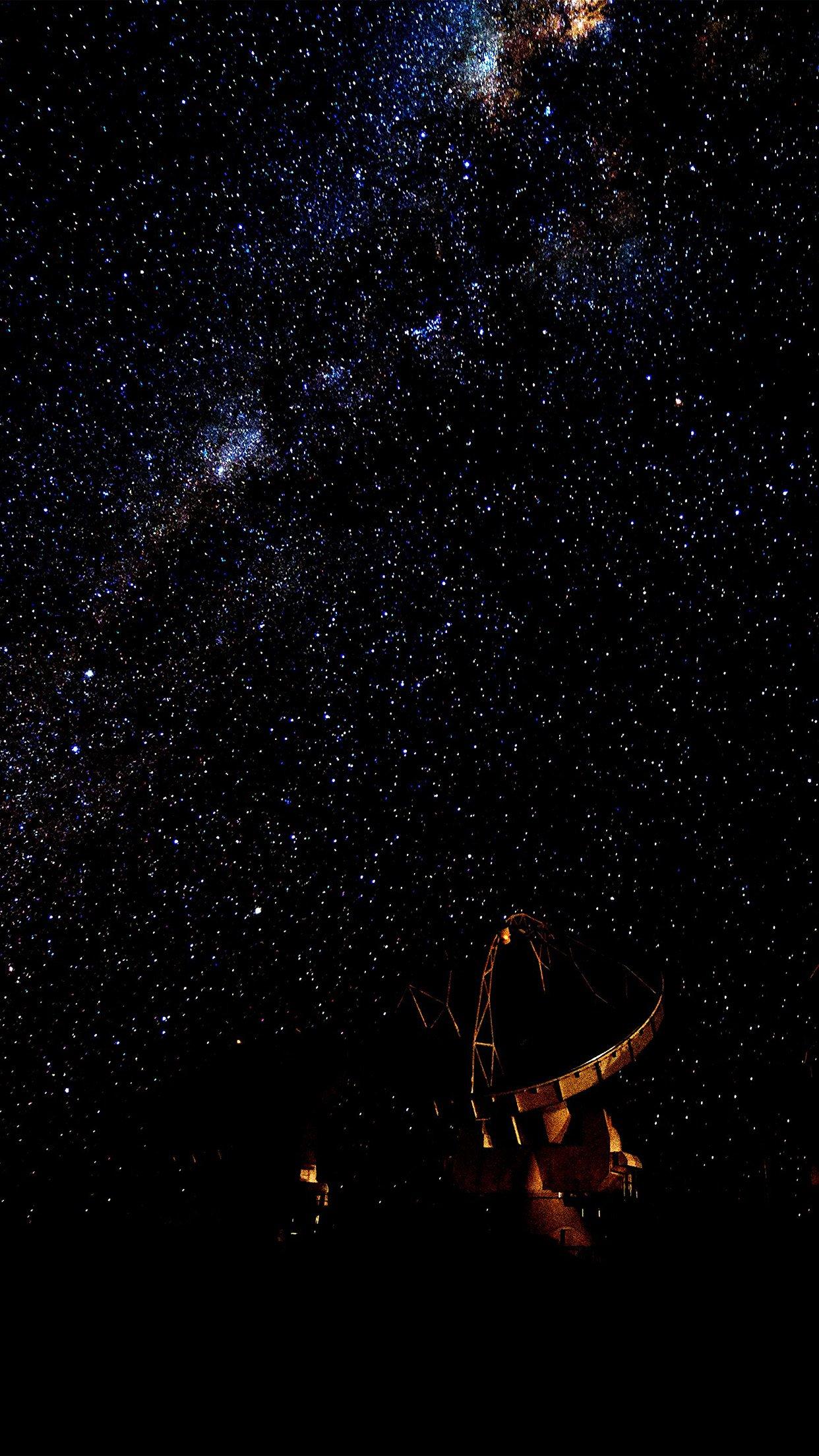 space dark star nature black sky android wallpaper