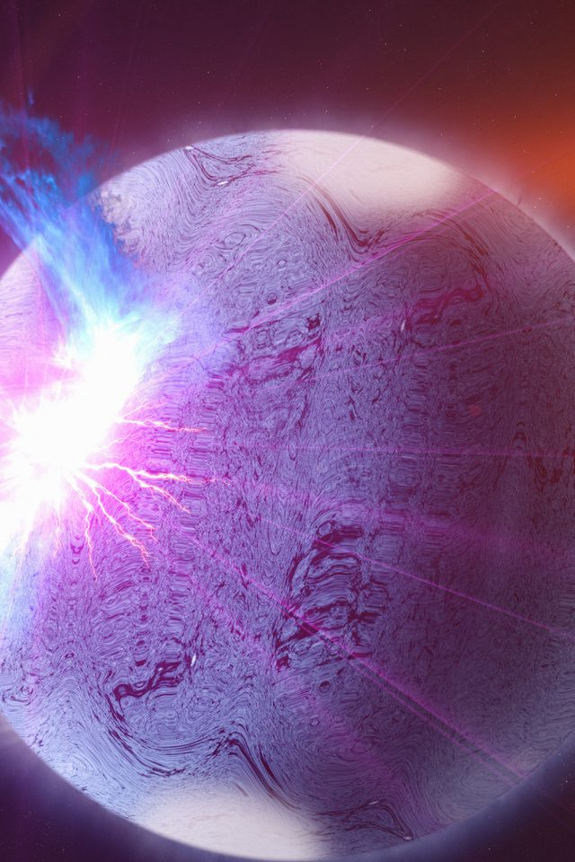 Space Flare Orange Dark Purple Pattern Android wallpaper