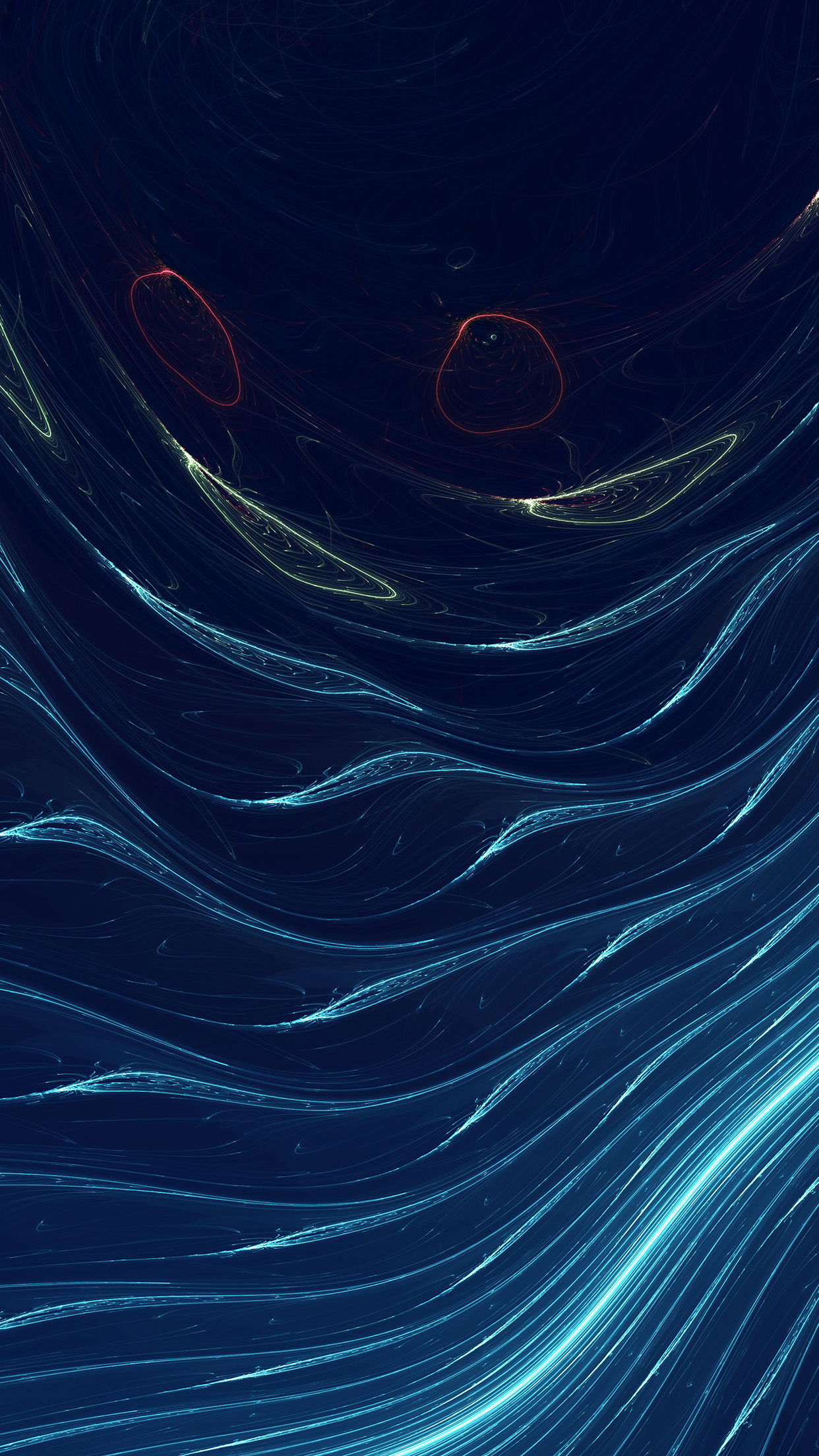 Space Line Curve Blue Pattern Android wallpaper