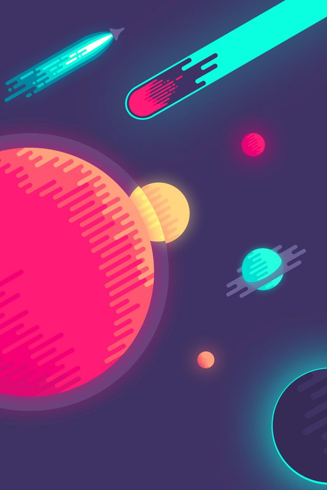 Space Minimal Art Illustration Android wallpaper