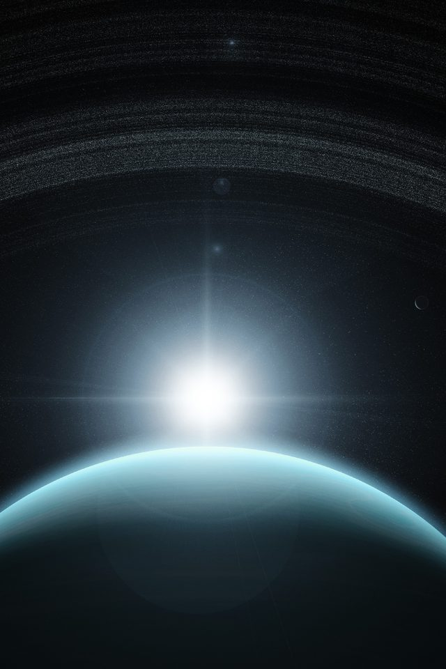 Space Planet Blue Interstellar Light Android wallpaper