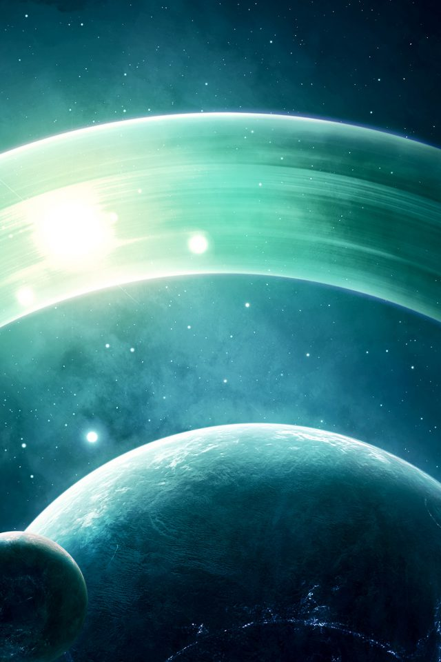 Space Saturn Dark Art Nature Android wallpaper