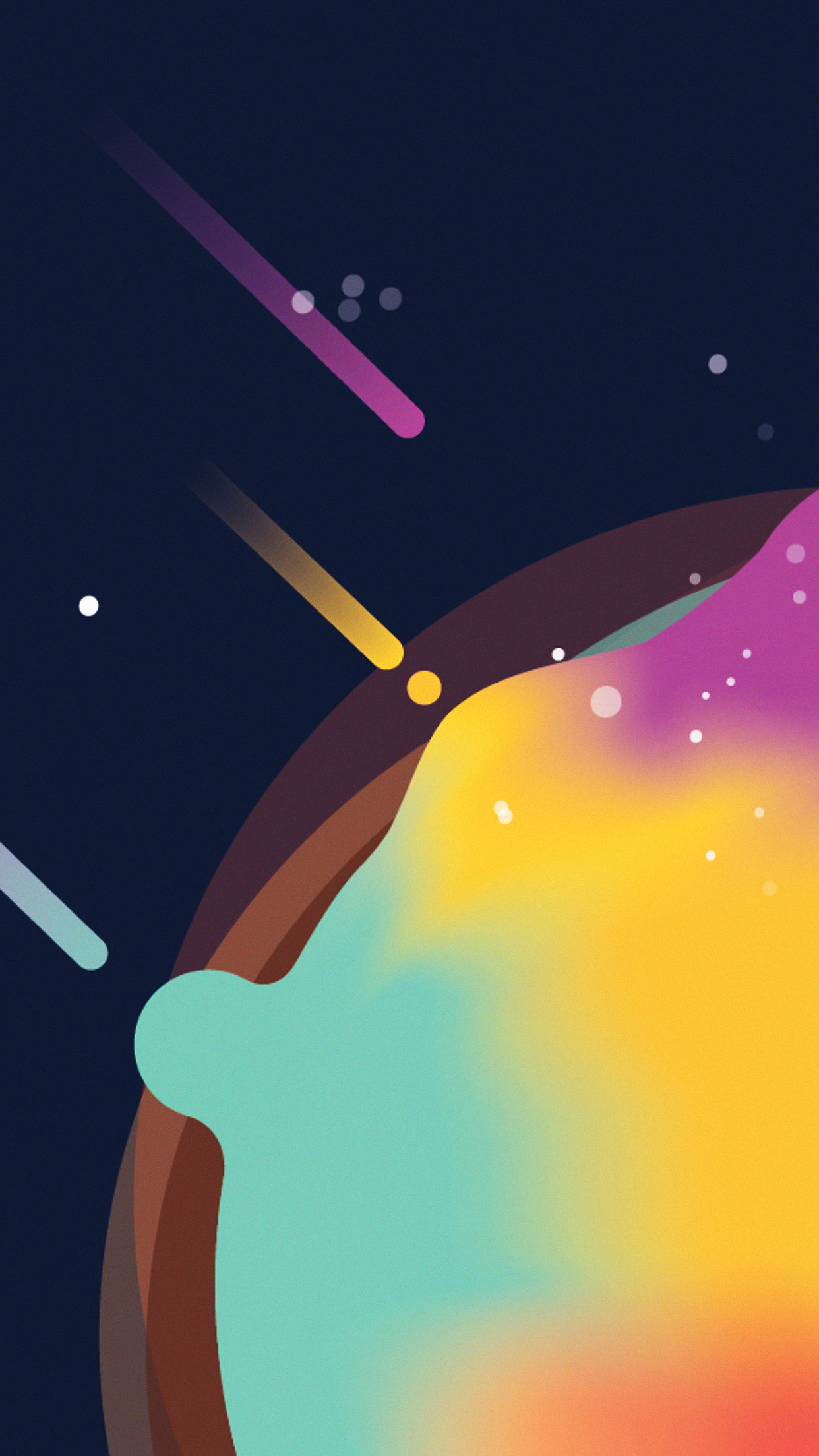 space simple minimal graphic illustration art android wallpaper