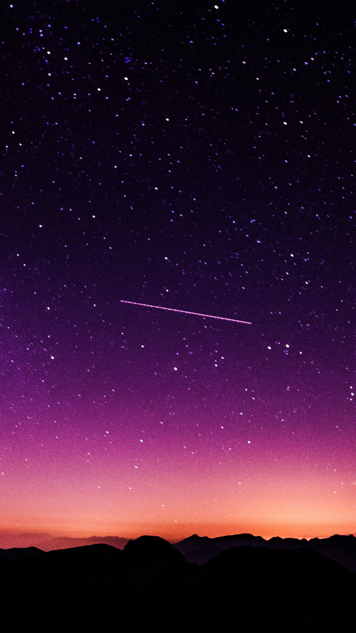 Star Galaxy Night Sky Mountain Purple Red Nature Space Android wallpaper - Android HD wallpapers