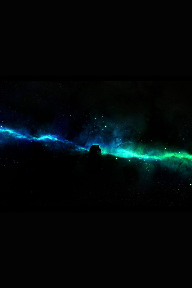 Star Road River Space Dark Aurora Android wallpaper