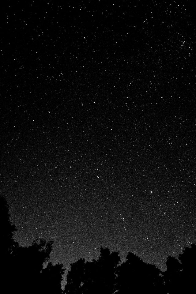 Starry Night Sky Star Galaxy Space White Black Android wallpaper