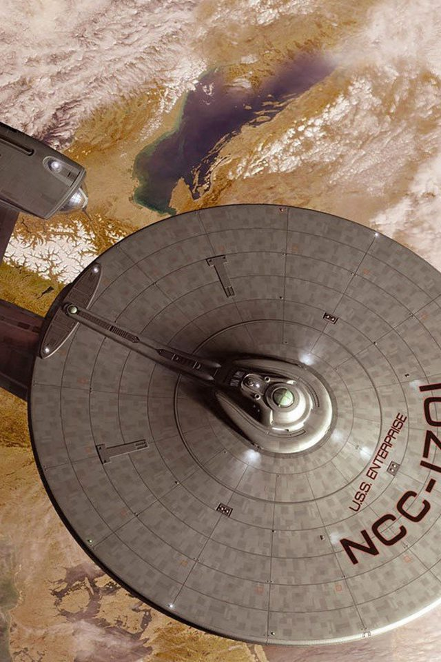Starship Enterprise Space Art Illust Android wallpaper