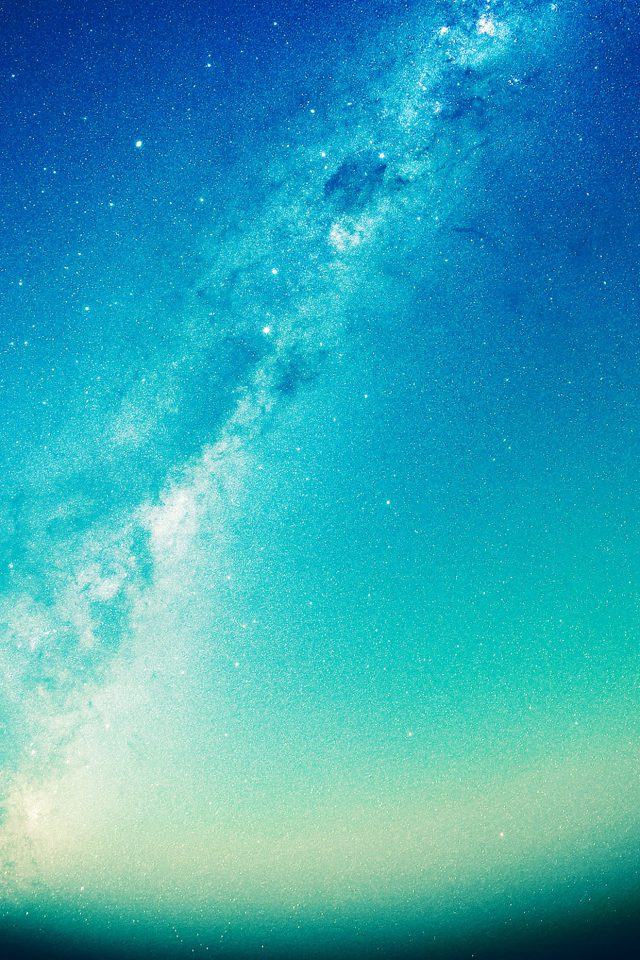 Summer Green Night Revisited Star Space Sky Android wallpaper