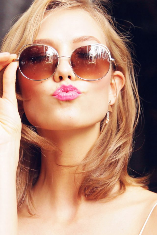 Sunglass Model Karlie Kloss Cute Beauty Android wallpaper