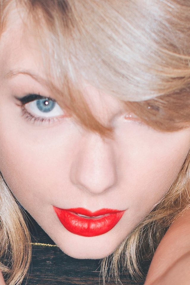Taylor Swift Red Lips Singer Artist Android wallpaper