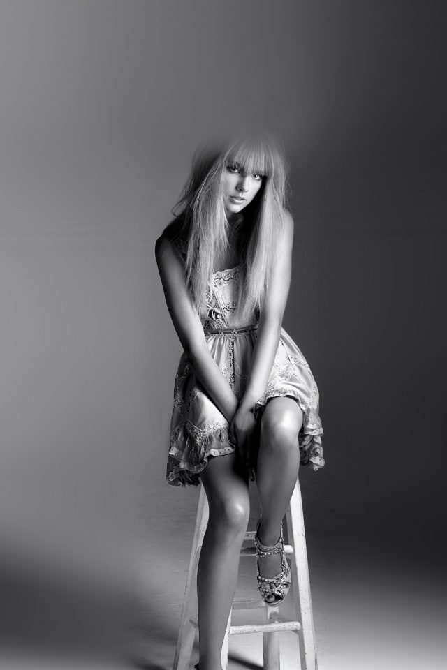 Taylor Swift Singer Bw Celebrity Android wallpaper