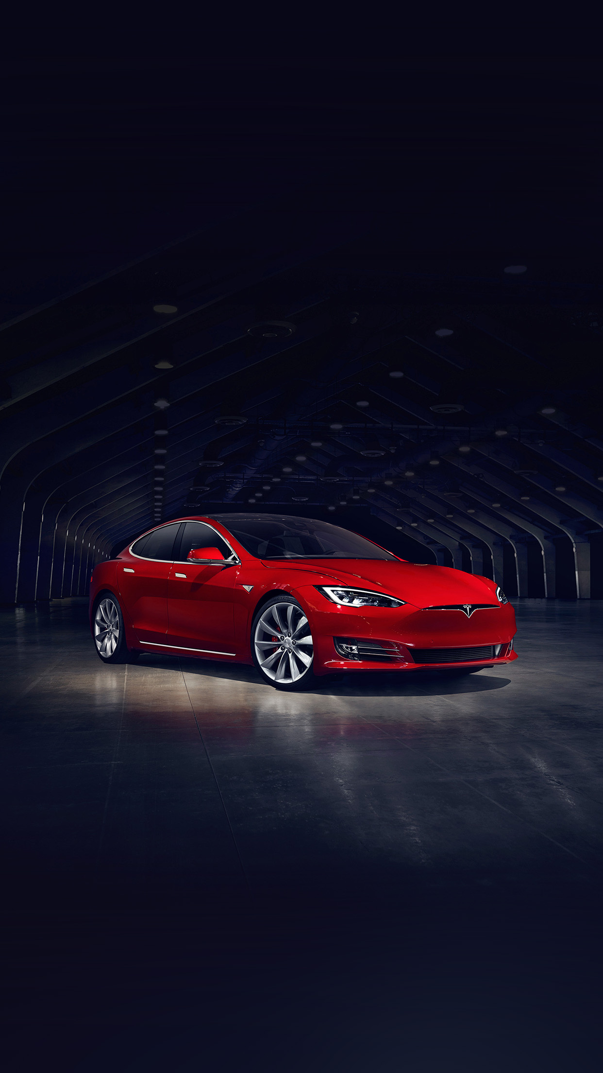 Tesla Model Red Car Android wallpaper