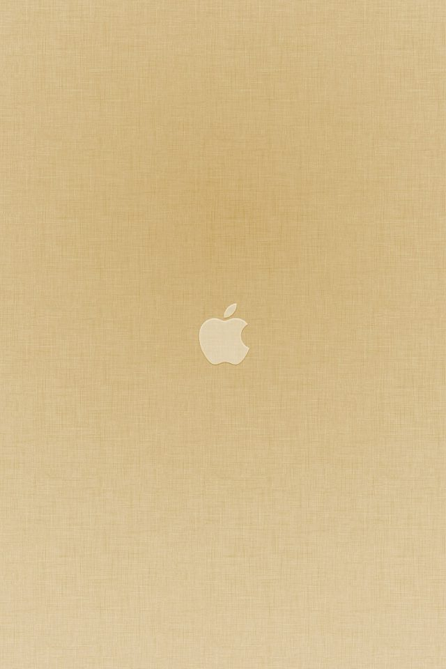 Tiny Apple Gold Minimal Android wallpaper
