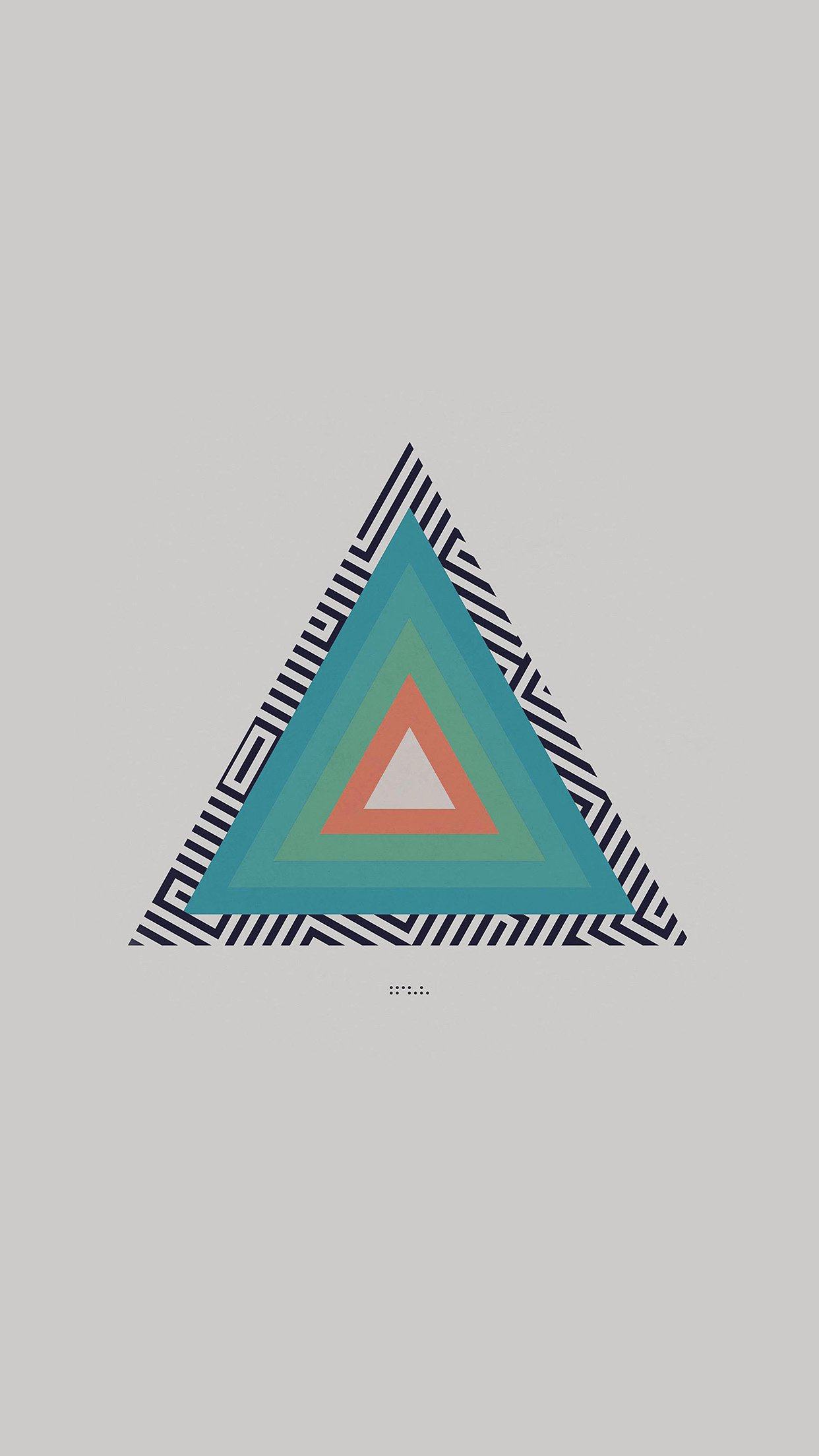 Tycho Triangle Abstract Art Illustration White Android wallpaper