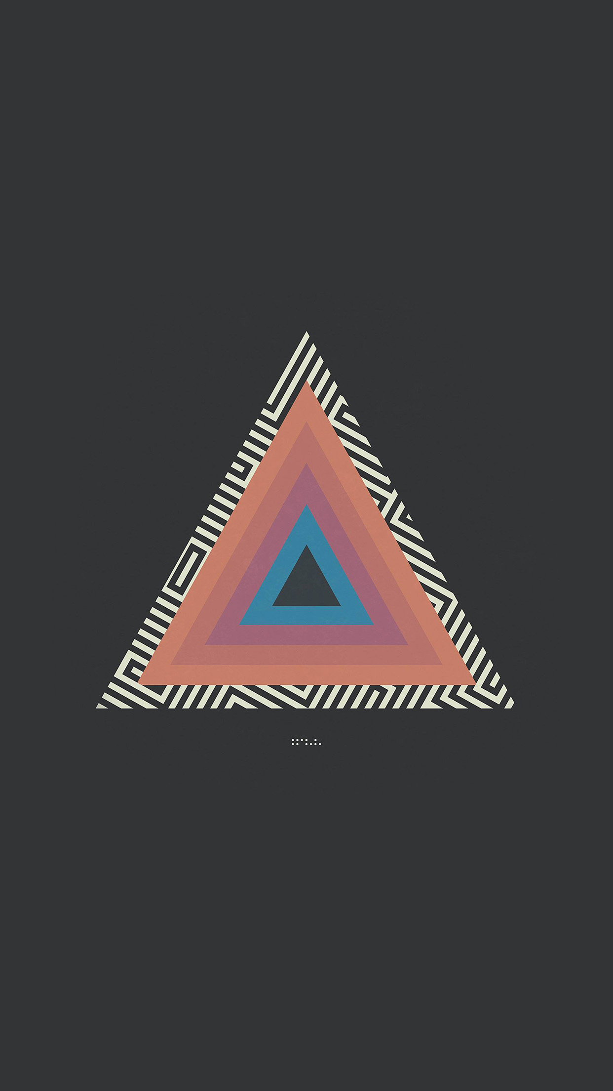 Tycho Triangle Abstract Art Illustration Android wallpaper