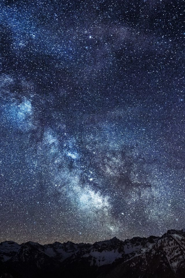 Wallpaper Amazing Milkyway Space Mountain Android wallpaper