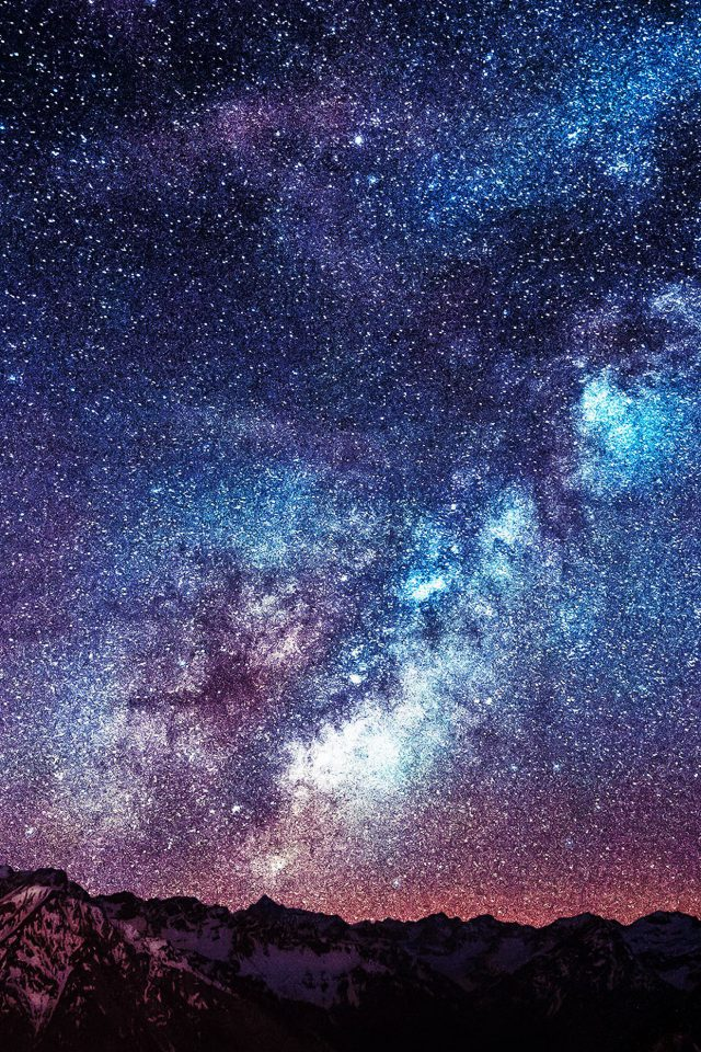 Wallpaper Amazing Milkyway Space Mountain Red Android wallpaper