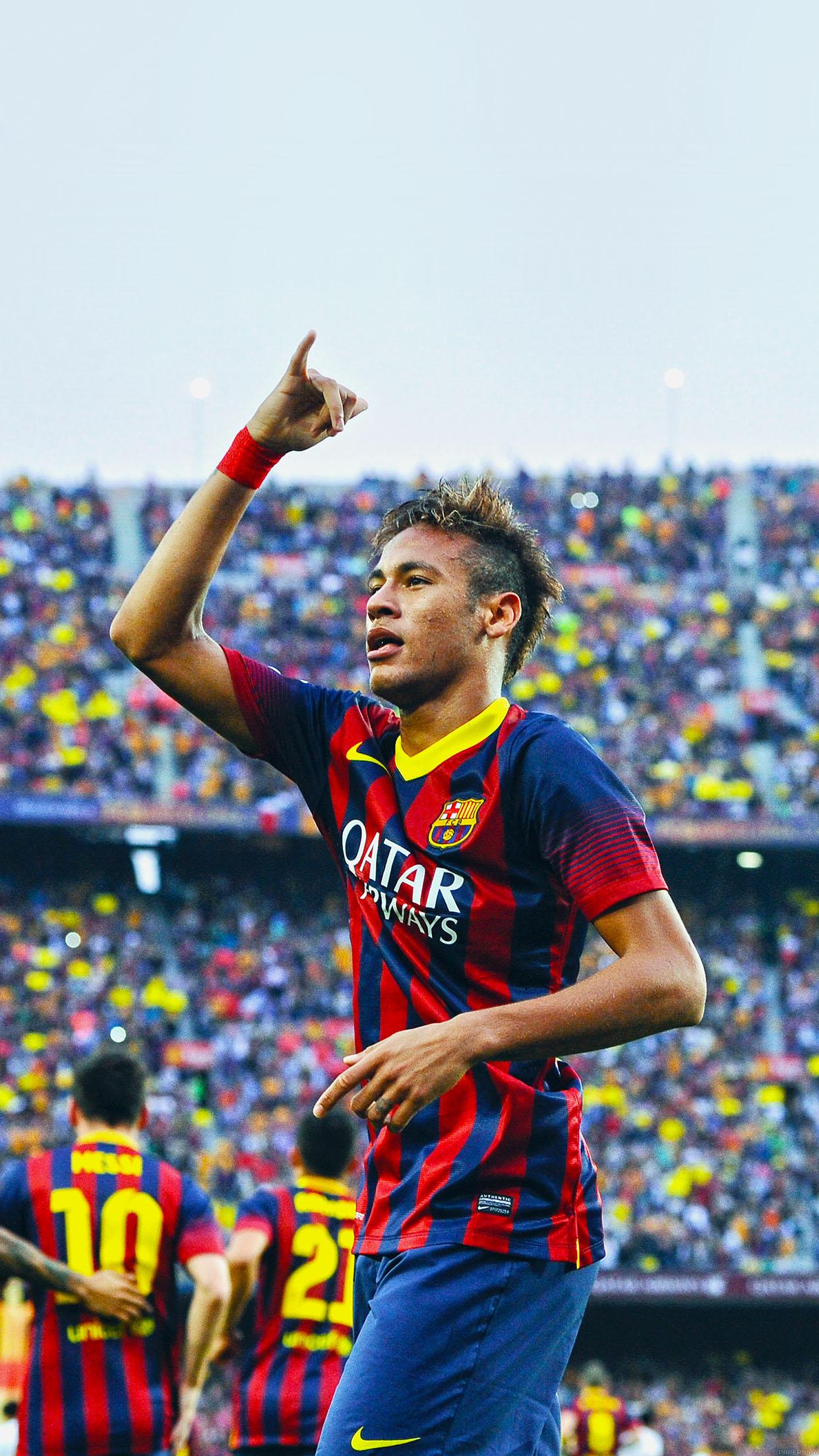 Wallpaper Nemar Barcelona Soccer Sports Face Android