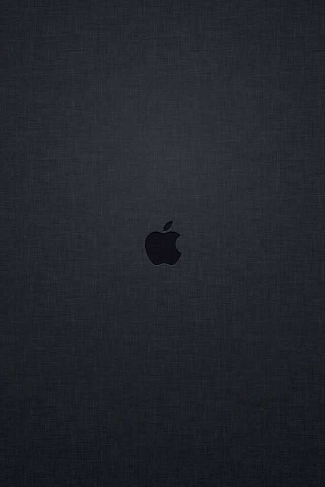 Wallpaper Tiny Apple Logo Dark Android wallpaper